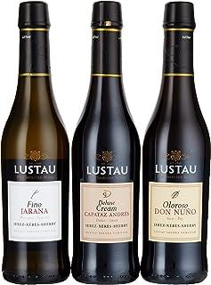 Lustau Sherry Trio Deluxe Geschenkpackung Jarana, Don Nuno, Deluxe Cream Sherry 1 x 1.125 l