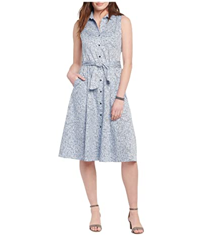 NIC+ZOE Petite Naples Shirtdress (Blue Multi) Women