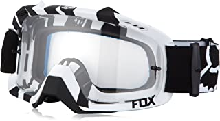 Fox Racing Air Defence Adult MX Motorcycle Goggles Eyewear - Black Zebra/Clear/No Size