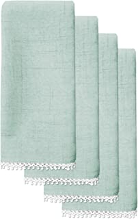Lenox French Perle Solid Set of 4 Napkins, Ice Blue