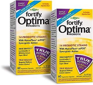 Nature's Way Fortify Optima 14 Probiotic Strains True Potency 35 Billion CFU, 60 Vegetarian Capsules, Pack of 2
