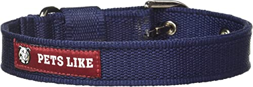 Pets Like Poly Collar, Navy Blue (25mm)