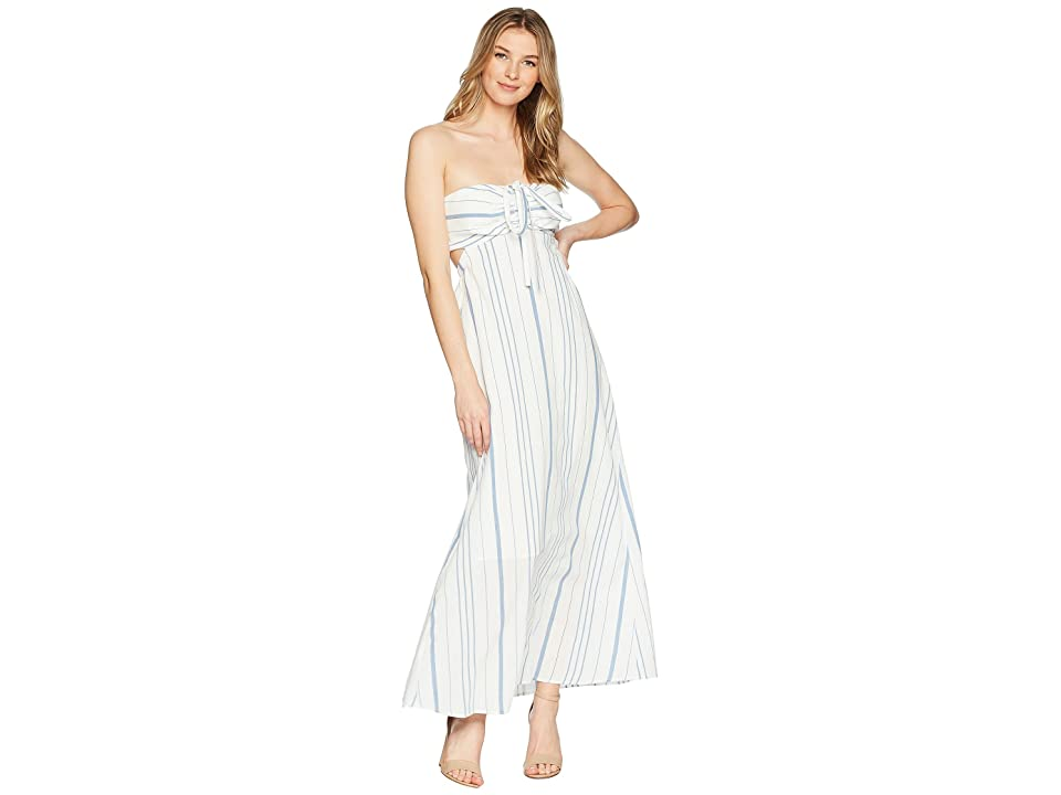 1.STATE Cinched Bodice Maxi Dress (Antique White) Women