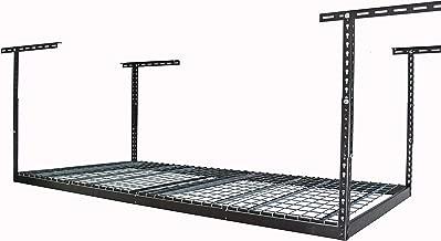 MonsterRax 4x8 Overhead Rack - 500 LB Capacity Adjustable Ceiling Mounted Rack (Hammertone, 24
