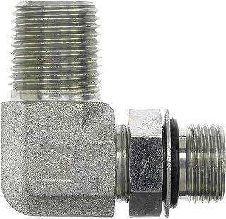 6805-06-04 Hydraulic Adapter 3//8 Male BOSS Swivel X 1//4 Female Pipe 90 Degree Carbon Steel
