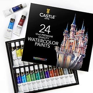 Castle Art Supplies Watercolors Paint Set - 24 Vibrant Colors in Tubes – Quality Paint that is Easy & Convenient to Mix Wi...
