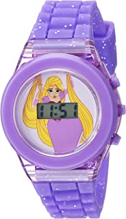 Disney Girls' Quartz Watch with Plastic Strap, Purple, 17...