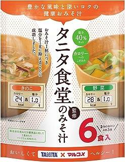 マルコメ お徳用タニタ監修減塩みそ汁野菜・きのこ 6食