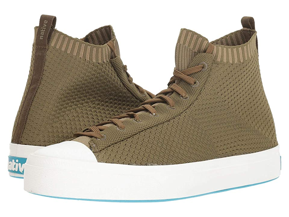 Native Shoes Jefferson 2.0 High (Utili Green/Shell White) Lace up casual Shoes