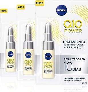 NIVEA Q10 Power Tratamiento Antiarrugas + Firmeza 10 días en pack de 3 (3 x 65 ml) ampollas antiedad con coenzima Q10 y ...