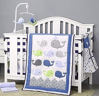 Baby Boy Ocean Nursery Decor Crib Sheet Anchor Baby Boy Gift Boy Nursery Bedding Nautical Whale Bedding