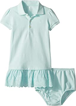Eyelet Polo Dress & Bloomer (Infant)