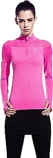Women's Half Zip Running Sweatshirt with Thumb Holes