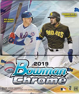 2019 Bowman Chrome Baseball Hobby Box (12 Packs/5 Cards: 2 Autographs)