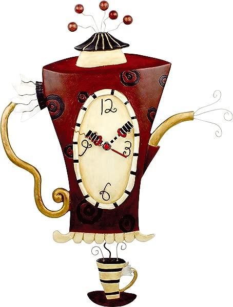 Allen Designs Steamin Tea Teapot Pendulum Wall Clock