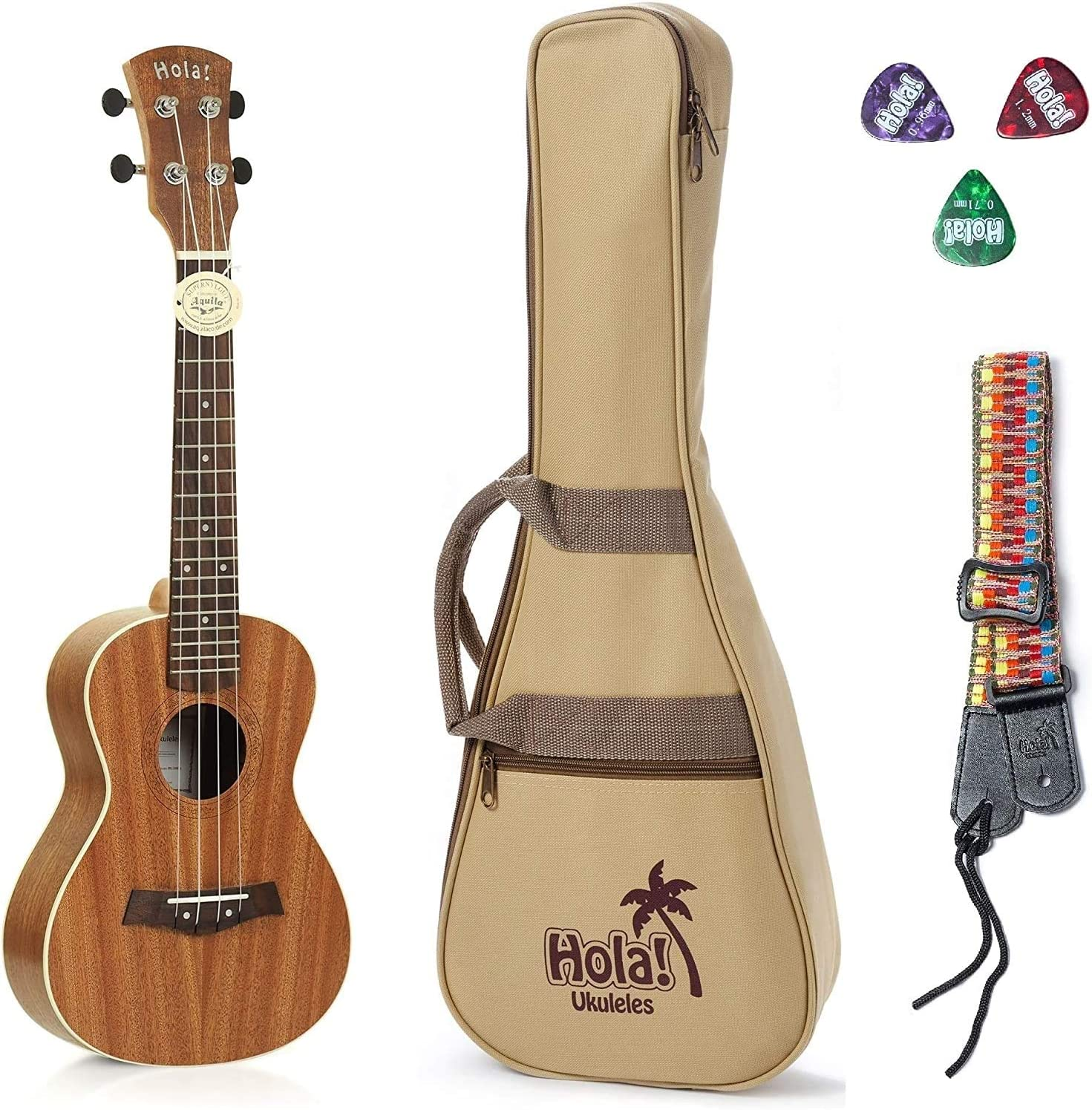 Concert Ukulele Bundle - LEFT HANDED by Hola Mus Deluxe Luxury goods Series Baltimore Mall