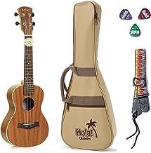Concert Ukulele Bundle - LEFT HANDED, Deluxe Series by Hola! Music (Model HM-124LFT+), Bundle Includes: 24 Inch Mahogany U...