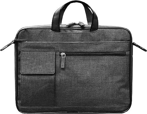 14 Inch Grey Khadi Cotton Laptop Shoulder Messenger Bag For Men Women