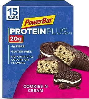 PowerBar Protein Plus Bar, Cookies & Cream, 2.15 oz Bar, pack of 15