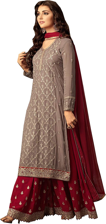 Delisa Readymade Eid Special Indian Pakistani Party Wear Palazzo Style Salwar Kameez for Women