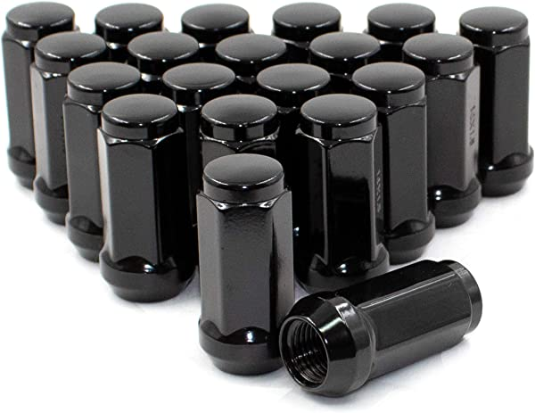 14x1 5 Closed End Bulge Acorn Lug Nuts Set Cone Seat 19mm 3 4 Hex Wheel Lug Nut M14x1 50 24 Lug M14x1 50 Black