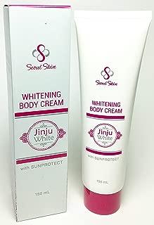 Jinju White Korean Formula Skin Whitening Body Cream with Sun Protect 150ml - Instant Whitening Bleaching Effect