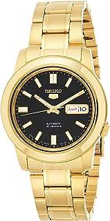 Seiko 5 Men's Black Dial Stainless Steel Automatic Watch - SNKK22J1