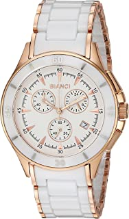 ROBERTO BIANCI WATCHES Women's Florenca Stainless Steel Swiss-Quartz Watch with Ceramic Strap, Two Tone, 20 (Model: RB58731)