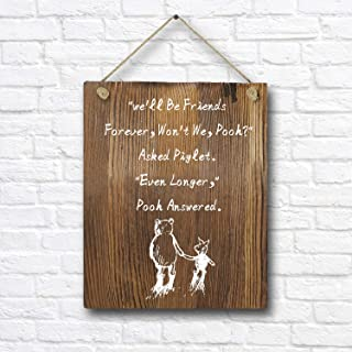 Winnie The Pooh Quotes and Saying Rustic Wood Wall Art Decor- 8