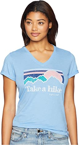 Take A Hike Cool Vee T-Shirt