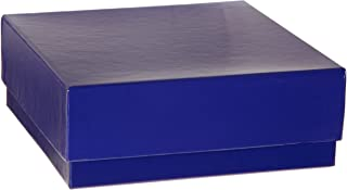 Heathrow Scientific HD2860CB Blue Cardboard Cryovial Box with Lid, 50mm Height (Pack of 12)