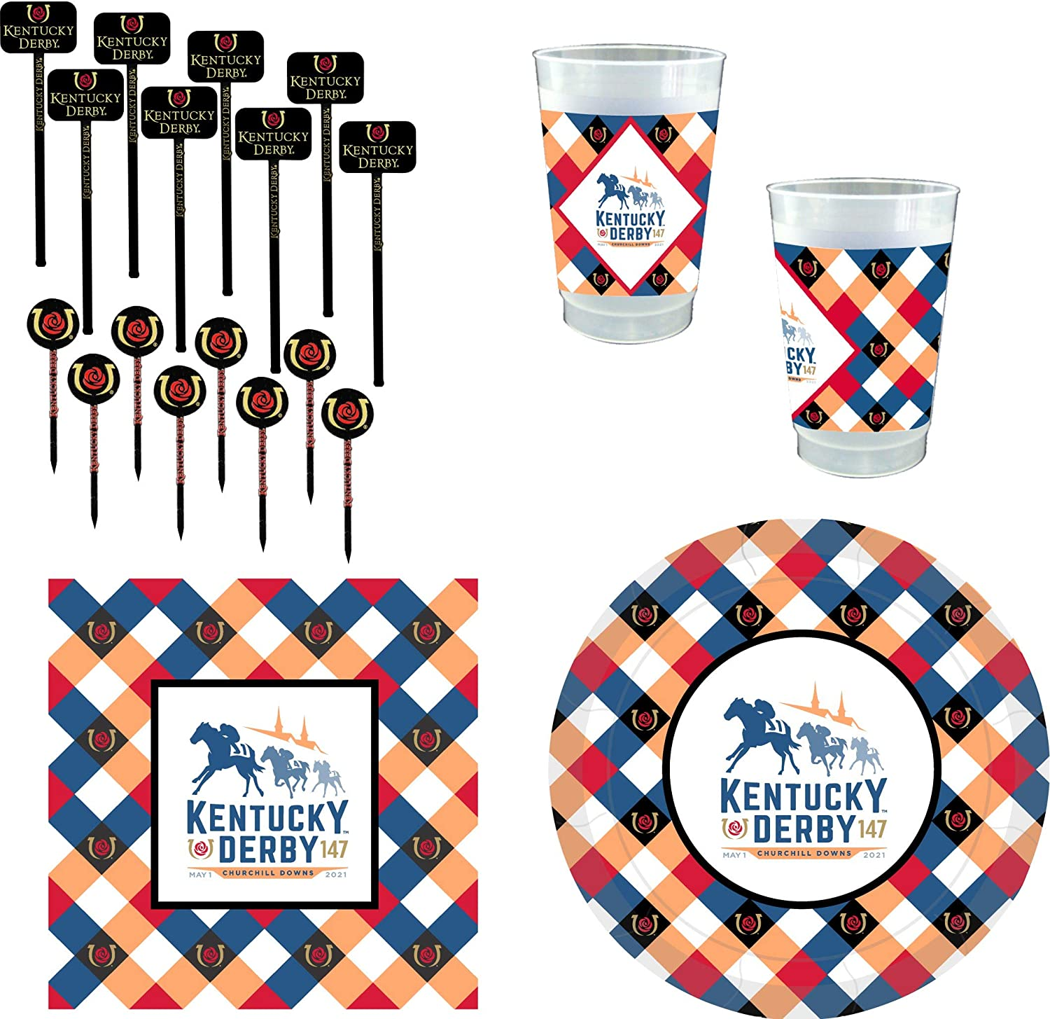 147th 人気海外一番 2021 (人気激安) Kentucky Derby Party Supplies p 24 - for Guests 112