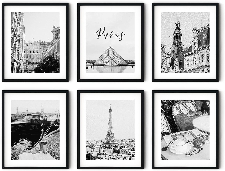 Art Prints Paris - Eiffel Tower Wall Print (Set of 6) 8 x 10