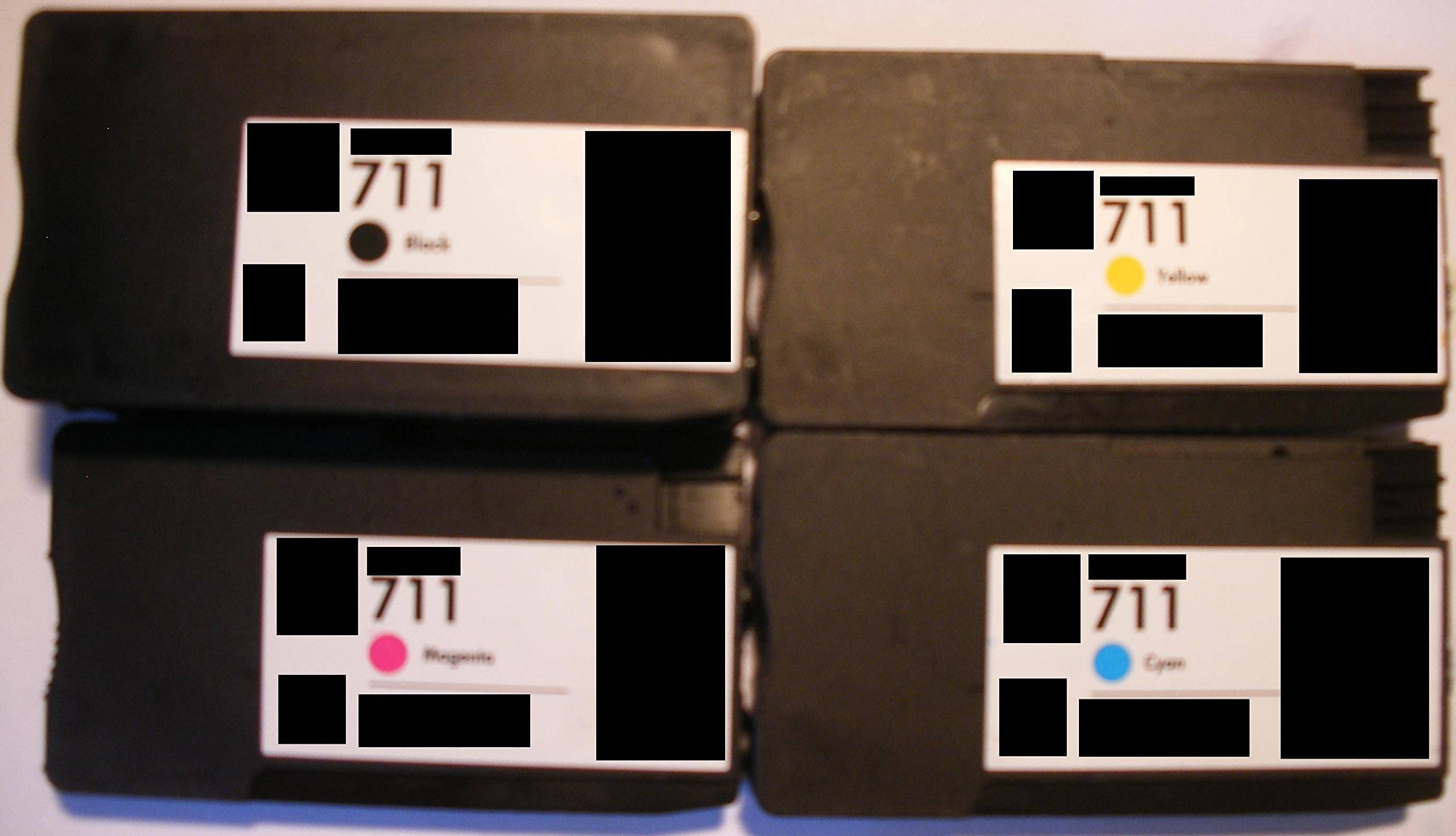 4 x Cartuchos de{711} Tinta de repuesto para HP de Impresora con Chip Set-Precio * CZ133A * XL * CZ130A * CN048AE * CZ131A * CZ132A* Designjet T120 T520: Amazon.es: Electrónica