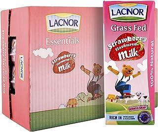 Lacnor Essentials Stwawberry Milk - Pack of 32 Pieces (32 x 180 ml - 5.76 Liter)