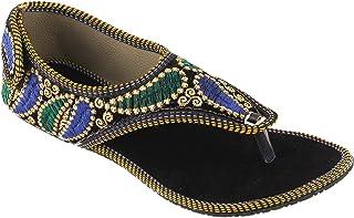 SHREE OL Rajasthani Jaipuri Ethnic Womens Girls Ladies Sandal 1060