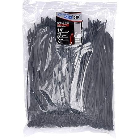 BC-07.6-50TCBK by Shorpioen Box Qty 2,500 07.6-50LB Cable Tie UV Black Nylon 6//6