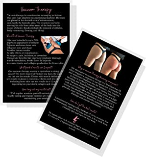 """Vacuum Therapy Butt Cupping Information Cards 