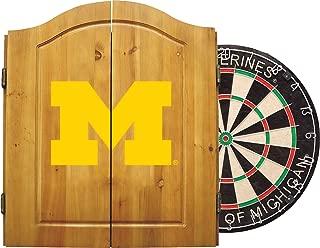 Imperial NCAA Dart Cabinet Set w/Steel Tip Bristle Dartboard.