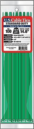 美国尺码 CABLE ties sd14gn10035.6cm STANDARD Duty CABLE ties ,绿色,100个一包