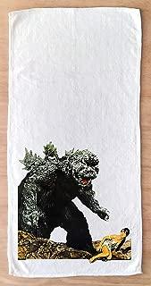 FlonzGift Hand Towel Godzilla Vintage Kaiju Movie Poster Print Microfibre Towel 12