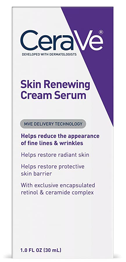 敷居暖炉最近セラヴィ シワ対策クリーム 1オンス CeraVe Skin Renewing Retinol Face Cream Serum for Fine Lines and Wrinkles - 1oz