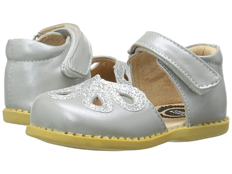 Livie & Luca Petal (Toddler/Little Kid) (Silver Metallic) Girl