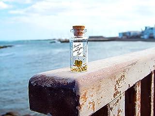 tienes un corazón de oro' -Mensaje en una botella. Miniaturas. Regalo personalizado. Divertida postal de amor.