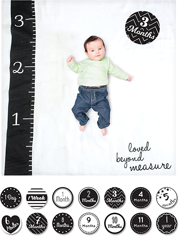 Lulujo Baby Baby S First Year Milestone Blanket And Cards Set Loved Beyond Measure