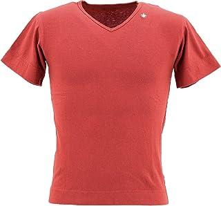 [SWEEP!! LosAngeles スウィープ ロサンゼルス] メンズ スラブコットン 半袖 VネックTシャツ SLUB V-NECK SWSLVNK-17 RED(レッド)