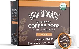 Four Sigmatic Mushroom Coffee K-Cups, Organic and Fair Trade Coffee with Lions Mane, Chaga, & Mushroom Powder, Focus & Imm...