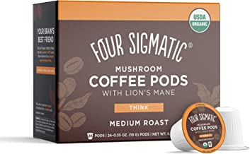 Four Sigmatic Mushroom Coffee K-Cups, Organic and Fair Trade Coffee with Lions Mane, Chaga, & Mushroom Powder, Focus & Imm...