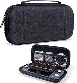 ODOM Étui de transport pour console de jeux Nintendo Switch Lite et accessoires, coque rigide ultra fine, étui de protecti...