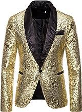 UISIEAF Herenpak, slim fit, modern colbert voor heren, blazer, modern, vrije tijd, licht jasje, formele smoking, effen car...